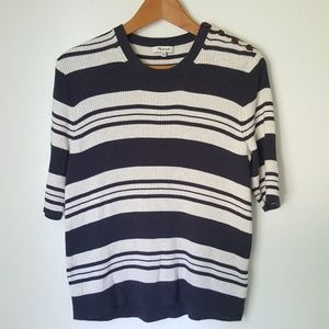 Madewell Ribbed Striped  Sweater Top